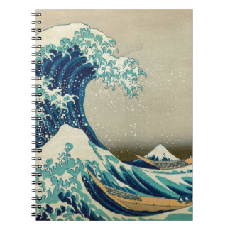 Asian Art - The Great Wave off Kanagawa Spiral Notebook