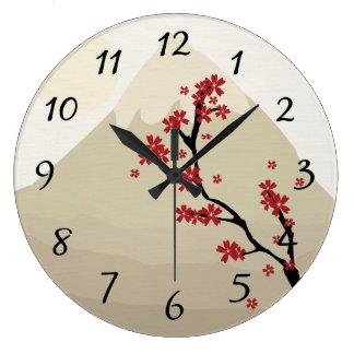 Asian Art Wall Clock