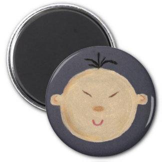 Asian Baby 6 Cm Round Magnet