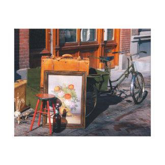 "Asian bike 14"" x 11"" / 35x25 cm canvas print"