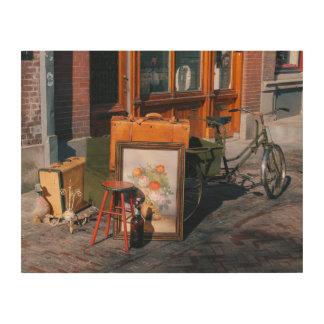"Asian bike 14"" x 11"" / 35x25 cm wood wall decor"
