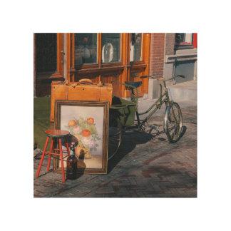 "Asian Bike 8"" x 8"" / 20x20 cm Wood Print"