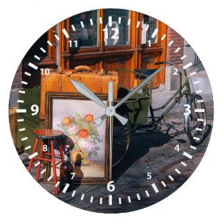 Asian Bike Large Clock
