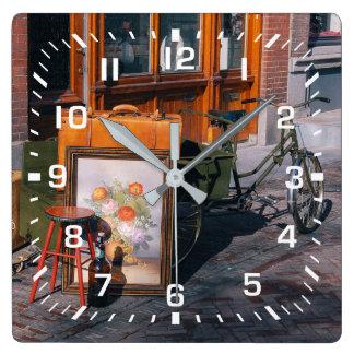 Asian Bike Square Square Wall Clock
