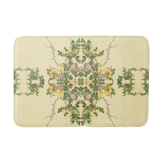 Asian Birds Animals Roses Flowers Hearts Bath Mat
