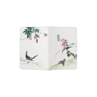 Asian Birds Floral Animal Wildlife Passport Holder