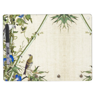 Asian Birds Flowers Bamboo Dry Erase Board