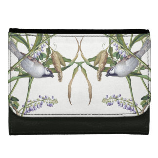 Asian Birds Wildlife Animal Habitat Flowers Wallet