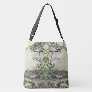 Asian Birds Wildlife Flowers Shoulder Tote Bag