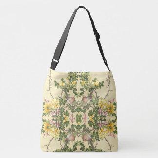 Asian Birds Wildlife Rose Flower Shoulder Tote Bag