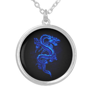 Asian Blue Dragon Necklace