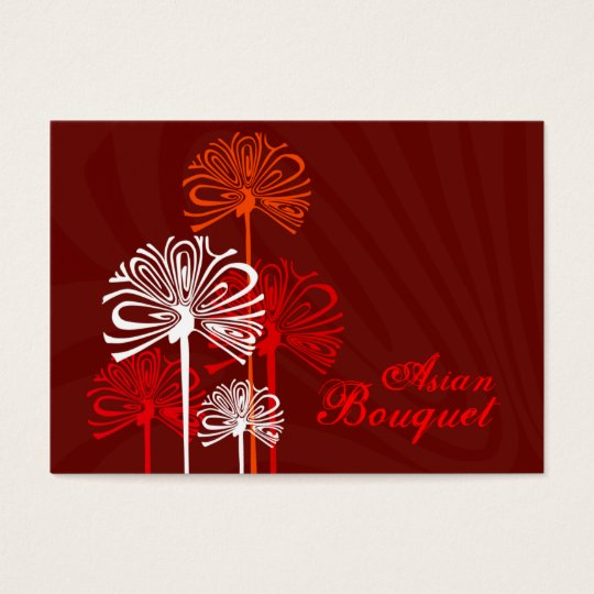 Asian Bouquet Chubby Business Cards