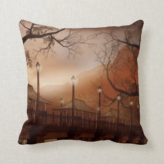 Asian Bridge Throw Pillow