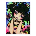 Asian Butterfly Mermaid Fairy Fantasy Art Girl Postcards
