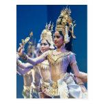 Asian Dancers Postcard