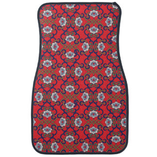 Asian decorative flower pattern. car mat