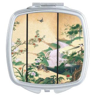 Asian Dove Bird Wisteria Flowers Compact Mirror