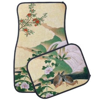 Asian Dove Birds Roses Flowers Car Floor Mats