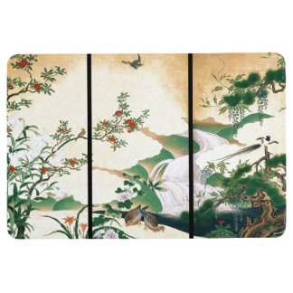 Asian Dove Birds Wisteria Roses Flowers Floor Mat