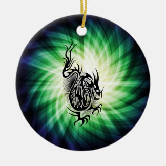 Asian Dragon Design; cool Christmas Ornament