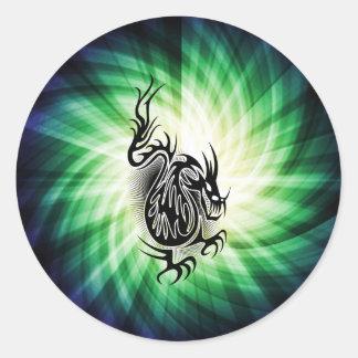 Asian Dragon Design; cool Stickers