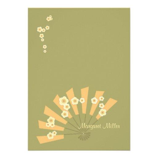 Asian Dream Personalized Stationery Invite