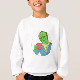 Asian Dude Drinking Coffee Grime Art Sweatshirt