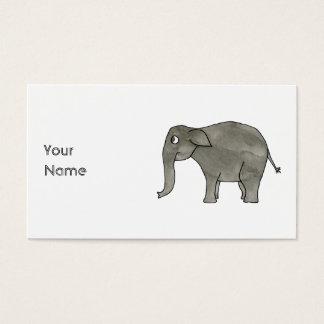 Asian Elephant. Business Card
