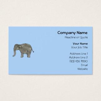 Asian Elephant, on light blue. Business Card