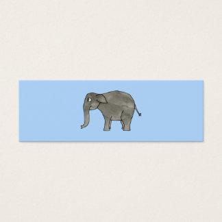 Asian Elephant, on light blue. Mini Business Card