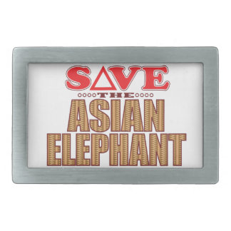 Asian Elephant Save Belt Buckles