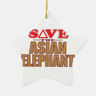 Asian Elephant Save Christmas Ornament