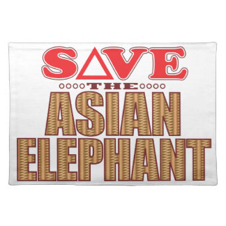 Asian Elephant Save Placemat