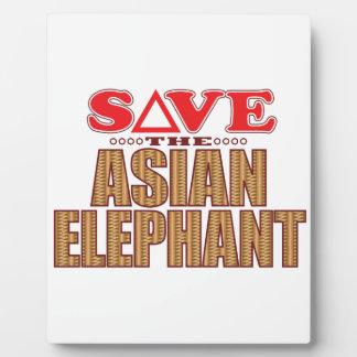 Asian Elephant Save Plaque
