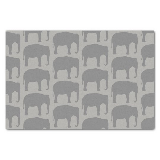 Asian Elephant Silhouettes Pattern Tissue Paper