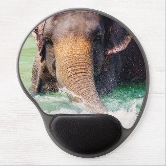 Asian Elephant Splashing In Water, Animal Gel Mouse Pad