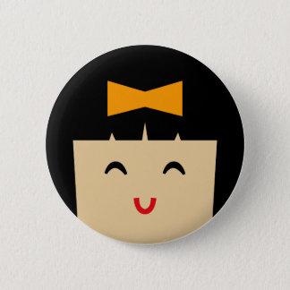 asian faces 2 6 cm round badge