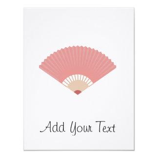 asian fan 11 cm x 14 cm invitation card