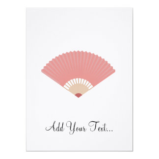 asian fan 17 cm x 22 cm invitation card