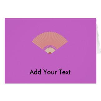 asian fan greeting card