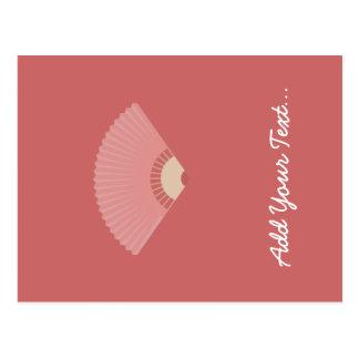asian fan postcard