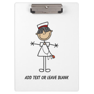 Asian Female Nurse Clipboard