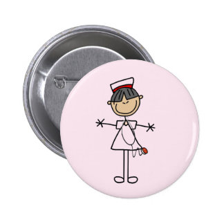 Asian Female Stick Figure Nurse T-shirts and Gifts 6 Cm Round Badge