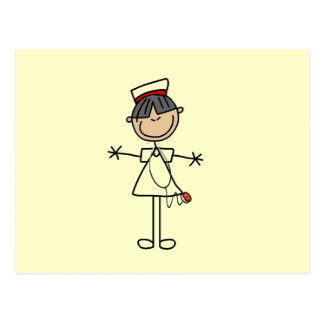 Asian Female Stick Figure Nurse T-shirts and Gifts Postcard