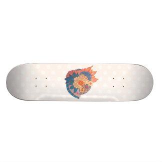 Asian Flower Collage art Skateboards