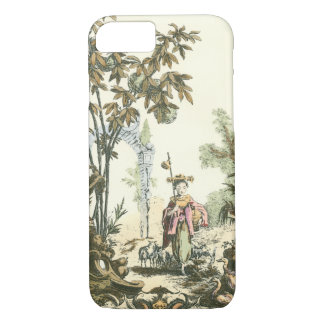 Asian Garden with Woman and Animals iPhone 8/7 Case