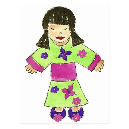 Asian Girl Post Cards
