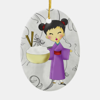 Asian Girl - SRF Christmas Ornament