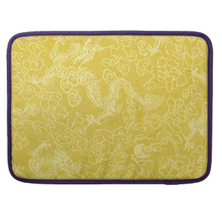 Asian Gold Dragon Embroidery Sleeve For MacBook Pro