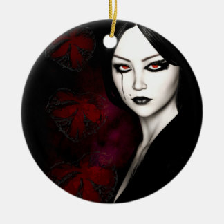 Asian gothic christmas ornament